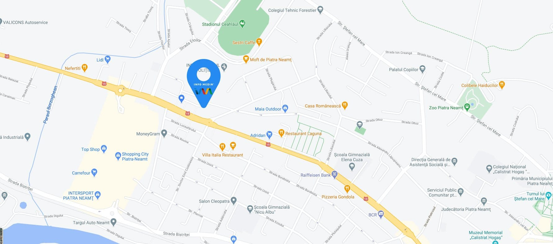 Locatie InfoMedia - Piatra neamt Bd Decebal nr 90